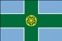 DERBYSHIRE - HAND WAVING FLAG (MEDIUM)